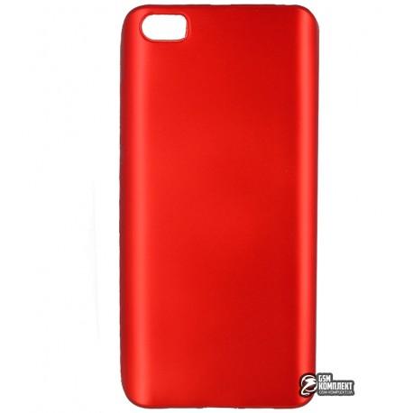 Чехол защитный для Xiaomi Mi5, силиконовый, матовый, красный