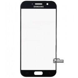 Стекло корпуса для Samsung A520F Galaxy A5 (2017), черное