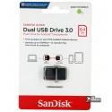 Флешка 64 Gb, USB3.0 OTG SanDisk Ultra Dual Drive m3.0 OTG White-Gold (SDDD3-064G-G46GW)