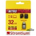 Флешка 32 Gb, USB3.0 OTG STRONTIUM OTG Nitro Silver 100Mbps (SR32GBBOTG2Z)