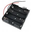 Відсік для батарей 4xAAA плоский з дротами