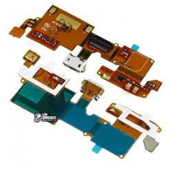 Шлейф для ZTE Blade V6, коннектора зарядки, с компонентами