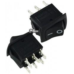 Переключатель MRS-202-3 ON-ON (6A 250V) DPDT 6 pin, черный
