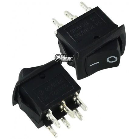 Переключатель MRS-202-3 ON-ON (6A 250V) DPDT 6 pin, чорний