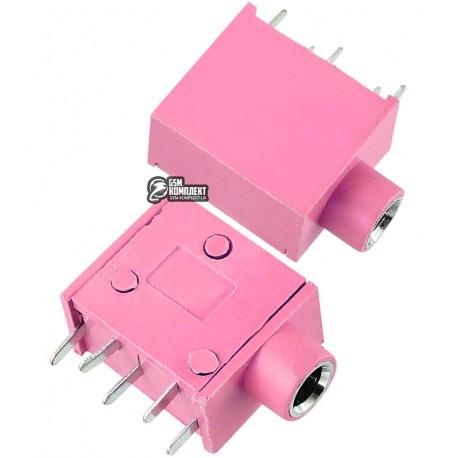 Гніздо 3,5 стерео на плату PJ215 PJ325, розовое