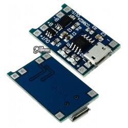 Контроллер заряда TP4056 5V 1A с функцией защиты аккумулятора 03962A