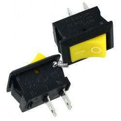 Выключатель MRS-101 клавишный мини, желтый