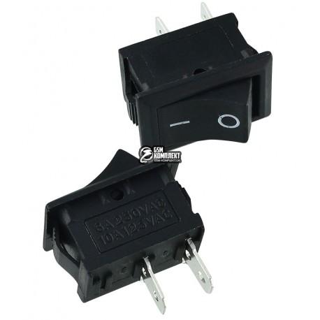 Вимикач MRS-101-2 клавішний міні, чорний