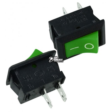 Выключатель MRS-101 клавишный мини, зеленый