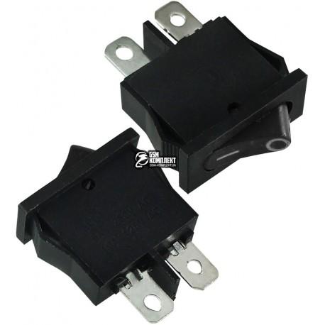 Выключатель SMRS-101-1 клавишный, черный