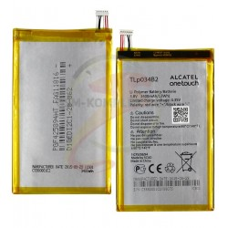 Аккумулятор TLp034B2 для ALCATEL One Touch Pop S9 Hero N3 A995L, TCL Y910, Y910t, (Li-Polymer, 3400 мАч)
