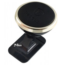 Автодержатель Baseus 360-degree Rotation Magnetic Mount Holder (Paste type) Gold (SUGENT-NT0V)