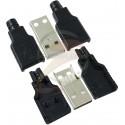 Штекер USB-A с корпусом USBAM-COVER