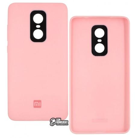 Чехол-накладка Silicone Case для Xiaomi Redmi Note 4X, силиконовая, розовая