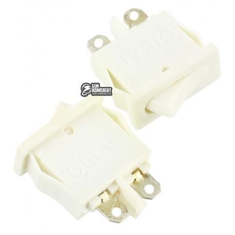 Вимикач SMRS-101-1 клавішний, белый