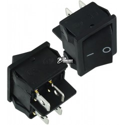 Выключатель клавишный MRS-201A ON-OFF, черный