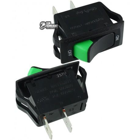 Переключатель клавишный CANAL HB110-C2N-BBG-A, зеленый