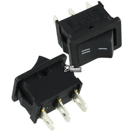 Переключатель MRS-102 клавішний міні, ON-ON, чорний