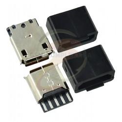 Гнездо microUSB 5pin на кабель