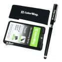 Набір для чищення ColorWay, для ноутбуків, планшетів, смартфонів: Гель для очищення 20 мл, серветка мікрофібра, універсальна ручка-стилус CW-4811