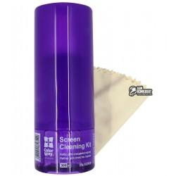 Чистящий набор ColorWay 2в1 для TFT/LCD, жидкость 300 мл, волокнистая салфетка, Purple #CW-5163PUR