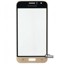 Стекло корпуса для Samsung J120H Galaxy J1 (2016), золотистое