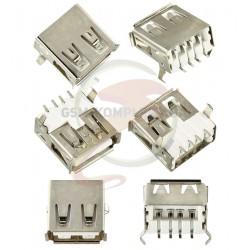 Гнездо USB-A SMD на плату USB-02-FS-90