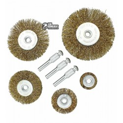 Набор щеток-крацовок плоских 5шт Virok 06990
