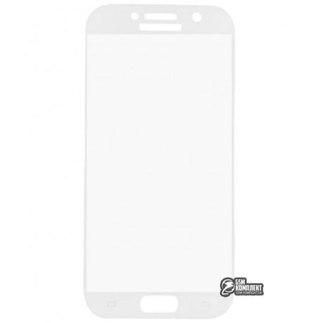 Загартоване захисне скло для Samsung A520 Galaxy A5 (2017), 3D, с закругленными углами, 0,26 мм 9H, біле