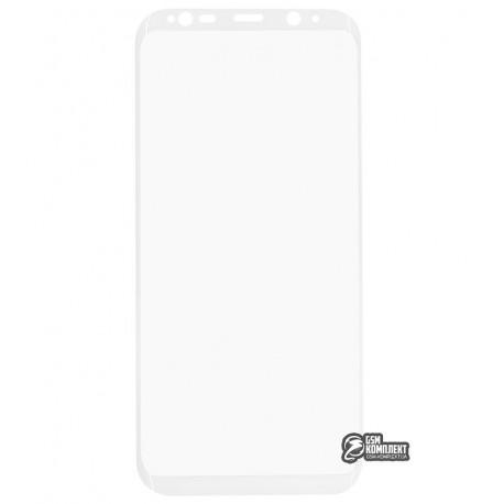 Загартоване захисне скло для Samsung G955 Galaxy S8 Plus, 0,3мм, 3D, біле