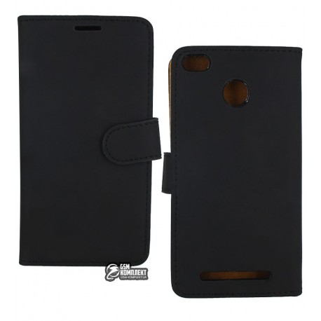 Чехол-книжка TOTO Classic для Xiaomi Redmi 3s/3 Pro черная
