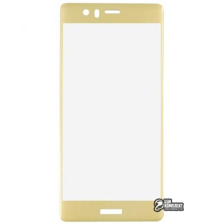 Загартоване захисне скло для Huawei P9, 3D, 0,26 мм 9H, Золоте