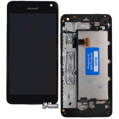 Дисплей для Nokia 650 Lumia, чорний, с рамкой, з сенсорним екраном