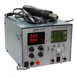 ТермовоздушнаяпаяльнаястанцияAIDA9305Dфен,паяльник,блокпитания(30V4.5A,USB5V2A)цифроваяиндикация