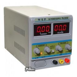 Лабораторный блок питания WEP PS-303D с переключателем Hi(A)/Lo(mA) 30V 3A цифровая индикация