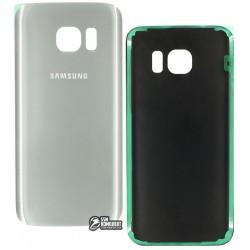 Задняя панель корпуса для Samsung G930F Galaxy S7, серебристая, original (PRC)