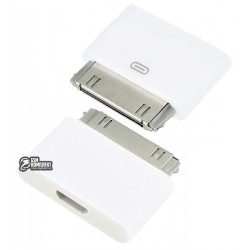 Адаптер micro-USB to 30 pin для Apple iPhone 2G, iPhone 3G, iPhone 3GS, iPhone 4, iPhone 4S; планшетов Apple iPad, iPad 2, iPad