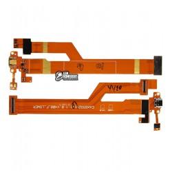 Шлейф для планшета LG G Pad 7.0 V400, коннектора зарядки, с компонентами
