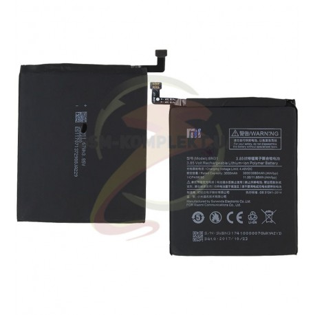 Акумулятор BN31 для Xiaomi Mi5X, Redmi Note 5A, Li-Polymer, 3,85 B, 3080 мАч