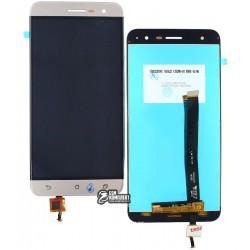 Дисплей для Asus ZenFone 3 (ZE520KL), золотистый, с сенсорным экраном (дисплейный модуль)