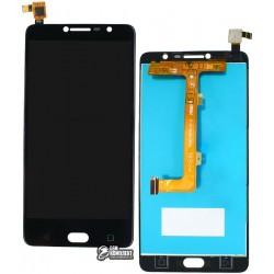 Дисплей для Alcatel One Touch 5095 Pop 4S, черный, с сенсорным экраном