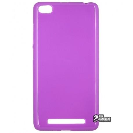 Чехол защитный для Xiaomi Redmi 3, силиконовый, фиолетовый