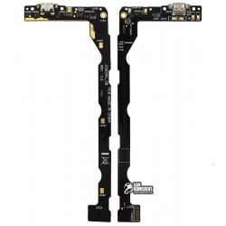 Шлейф для Asus ZenFone 2 Laser (ZE601KL), микрофона, коннектора зарядки, с компонентами