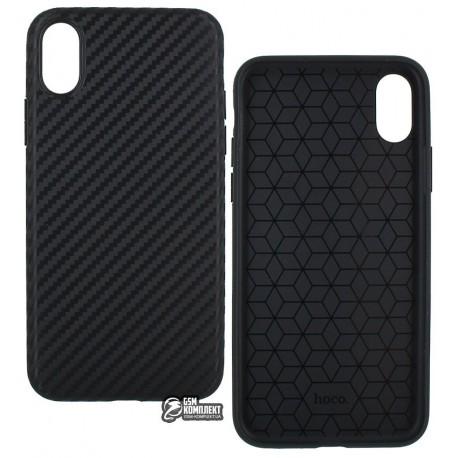 Чехол Hoco Delicate Series TPU для iPhone X, черный