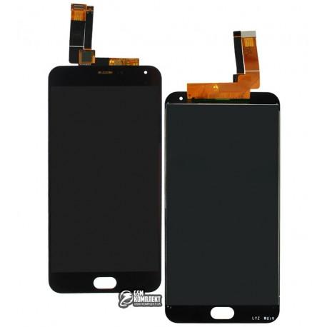 Дисплей для Meizu M2 Note, черный, с сенсорным экраном, черный шлейф, (тип 2), original (PRC)