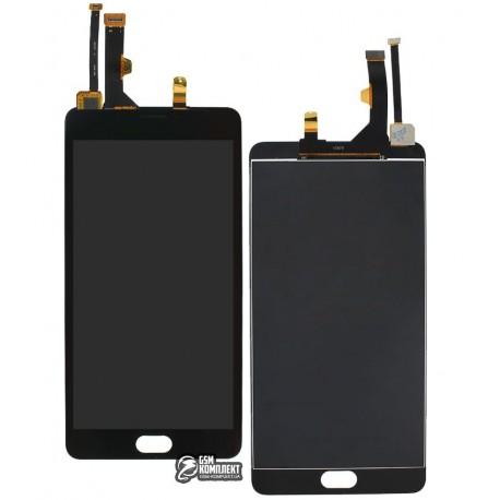 Дисплей для Meizu M3 Max, чорний, з сенсорним екраном, original (PRC)