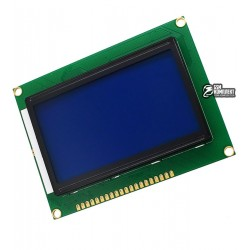 ЖК дисплей LCD12864 128х64 точки, синий фон, белое изображение ST7920