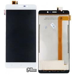 Дисплей для Blackview A8 MAX, белый, с сенсорным экраном (дисплейный модуль)