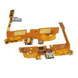 Шлейф для LG D405 Optimus L90, D410 Optimus L90 Dual SIM, D415 Optimus L90, коннектора зарядки, микрофона, с компонентами