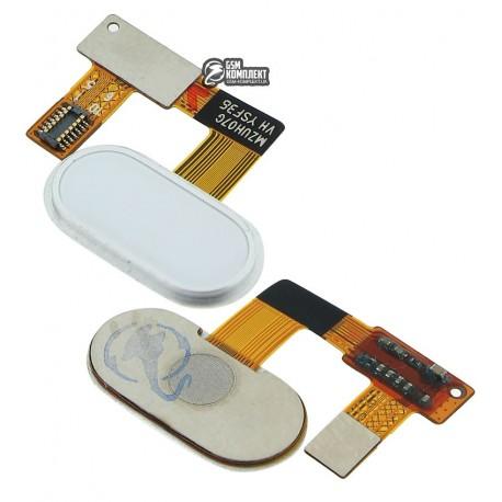 Шлейф для Meizu U20, кнопки меню, белый